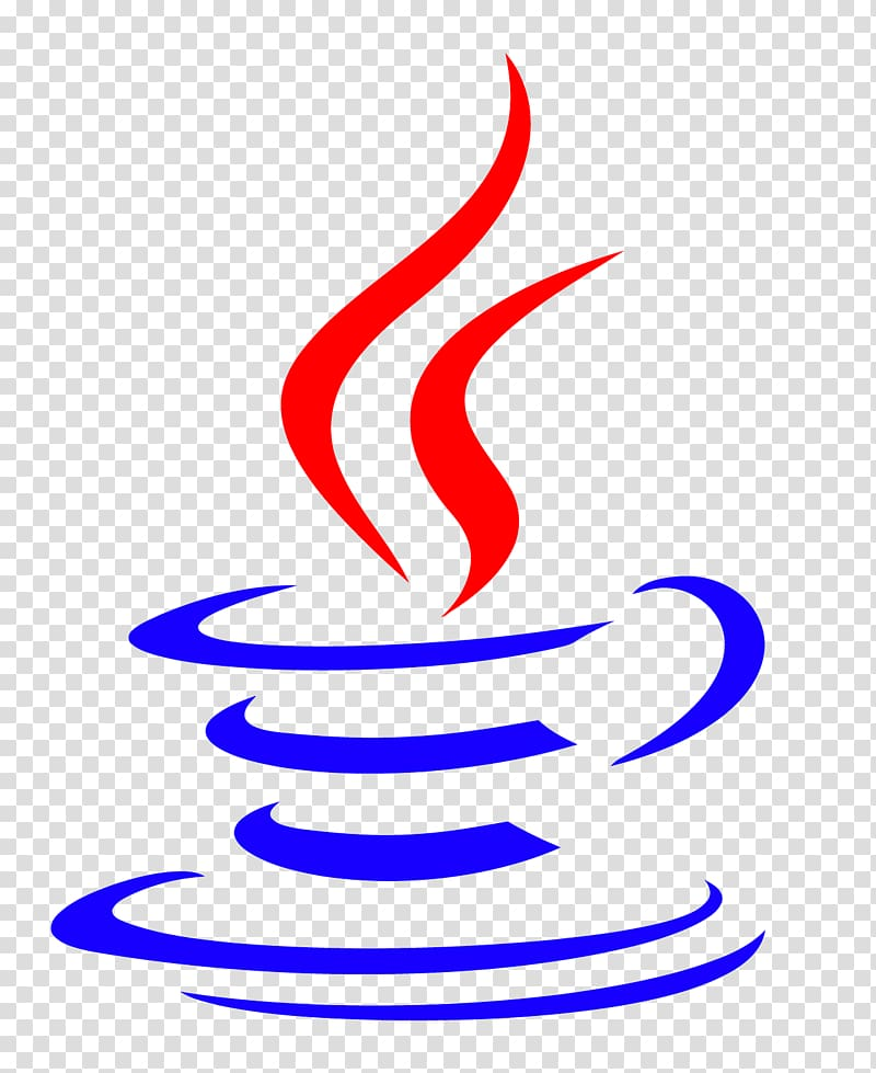 Blue and red cup with steam logo, Java Programming Computer.