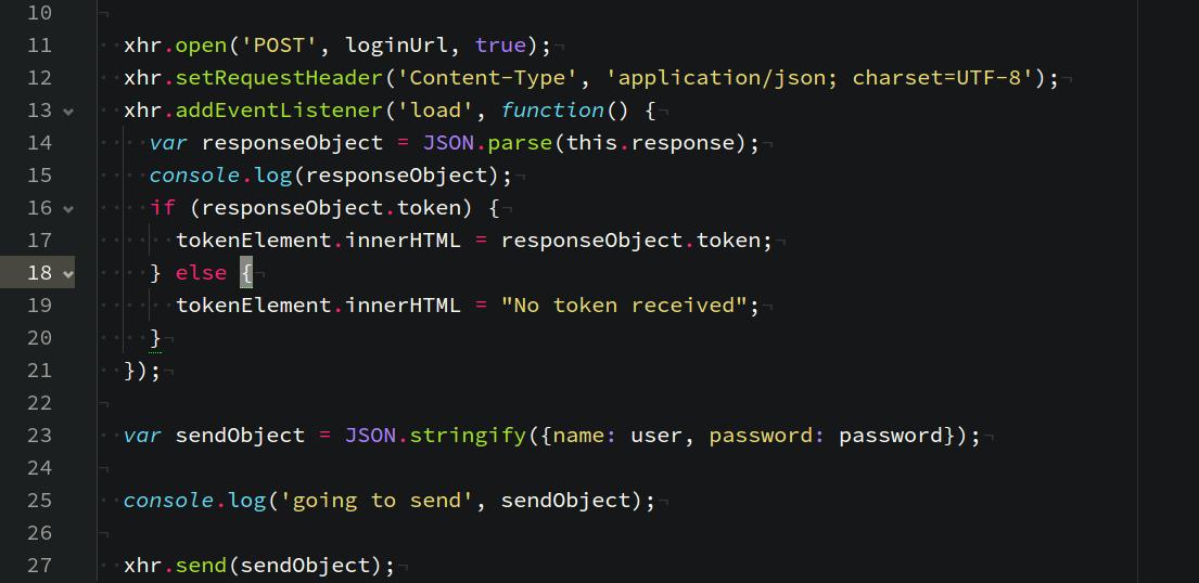 Example: JSON Web Tokens with Vanilla JavaScript.