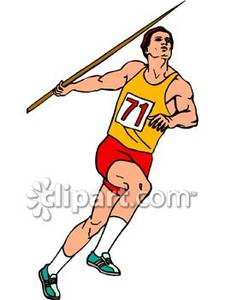 Javelin Throw Clip Art.