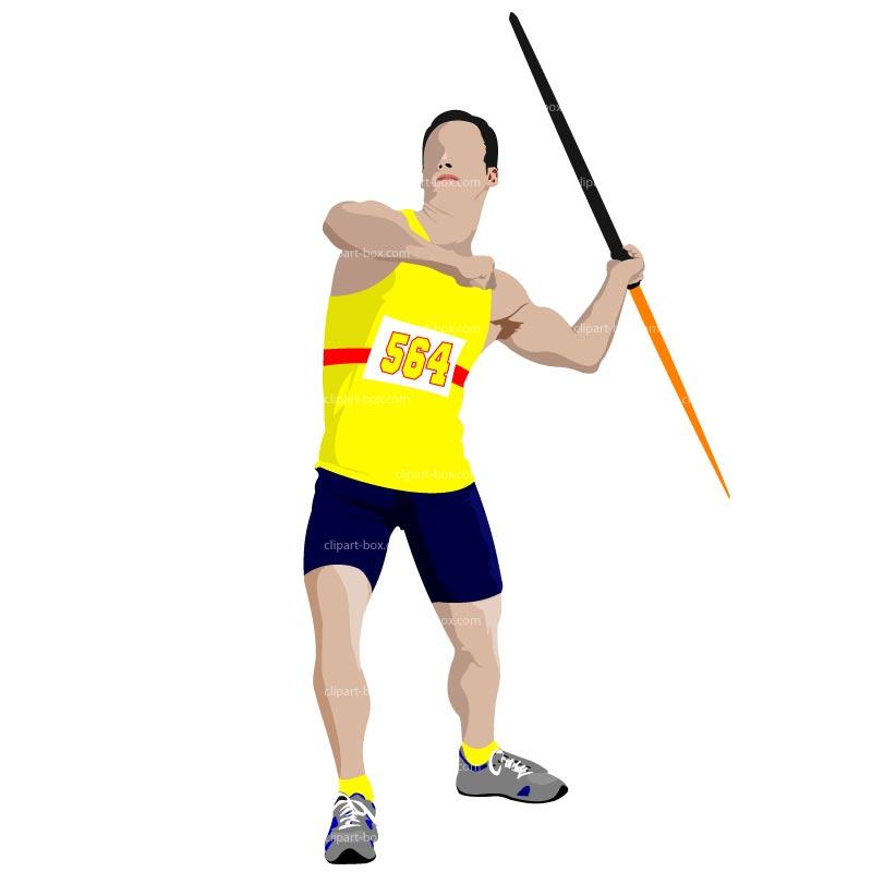 Javelin throw clip art