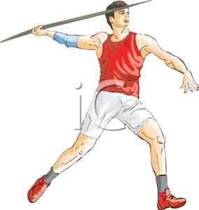 Javelin throw clipart.