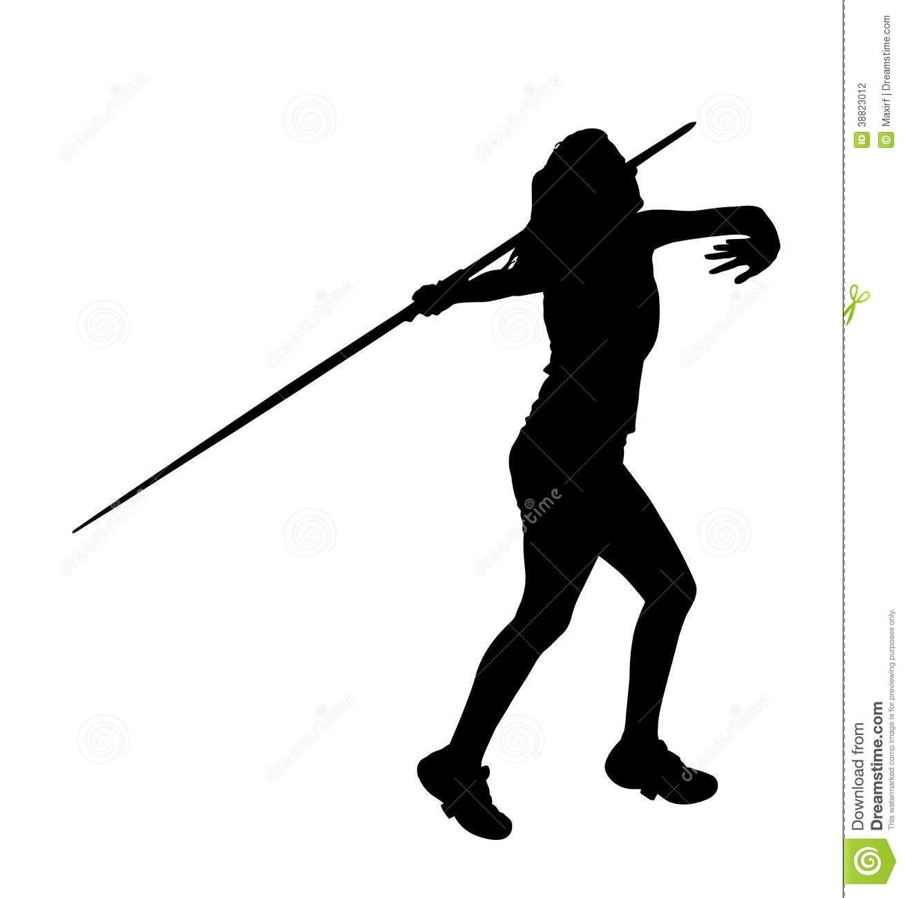 Javelin Thrower Male Clipart.