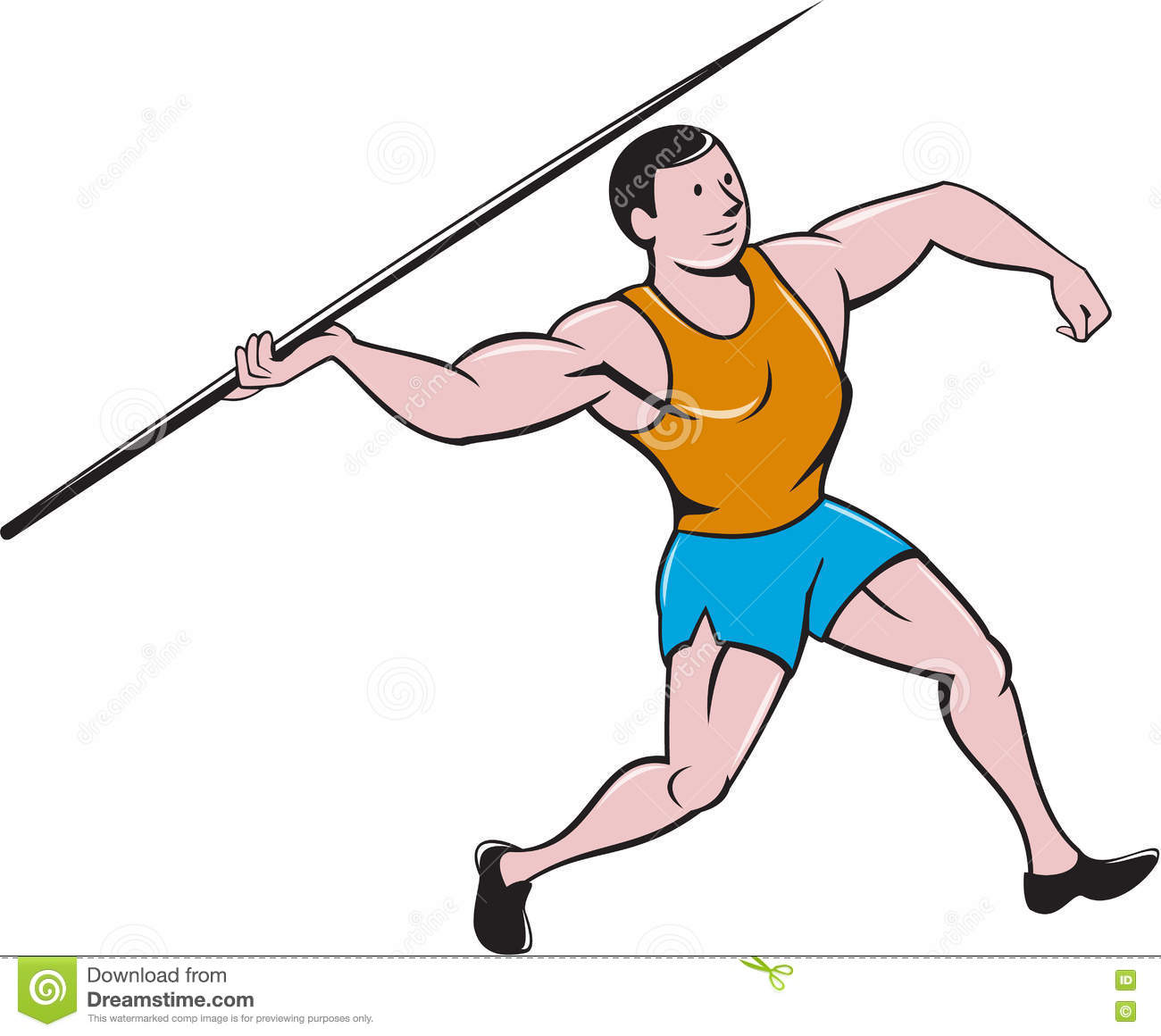 Javelin Throw Cartoon.