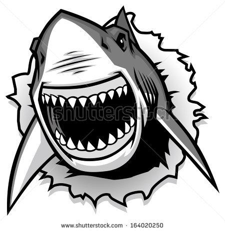Clip Art Shark Jaws Clipart.