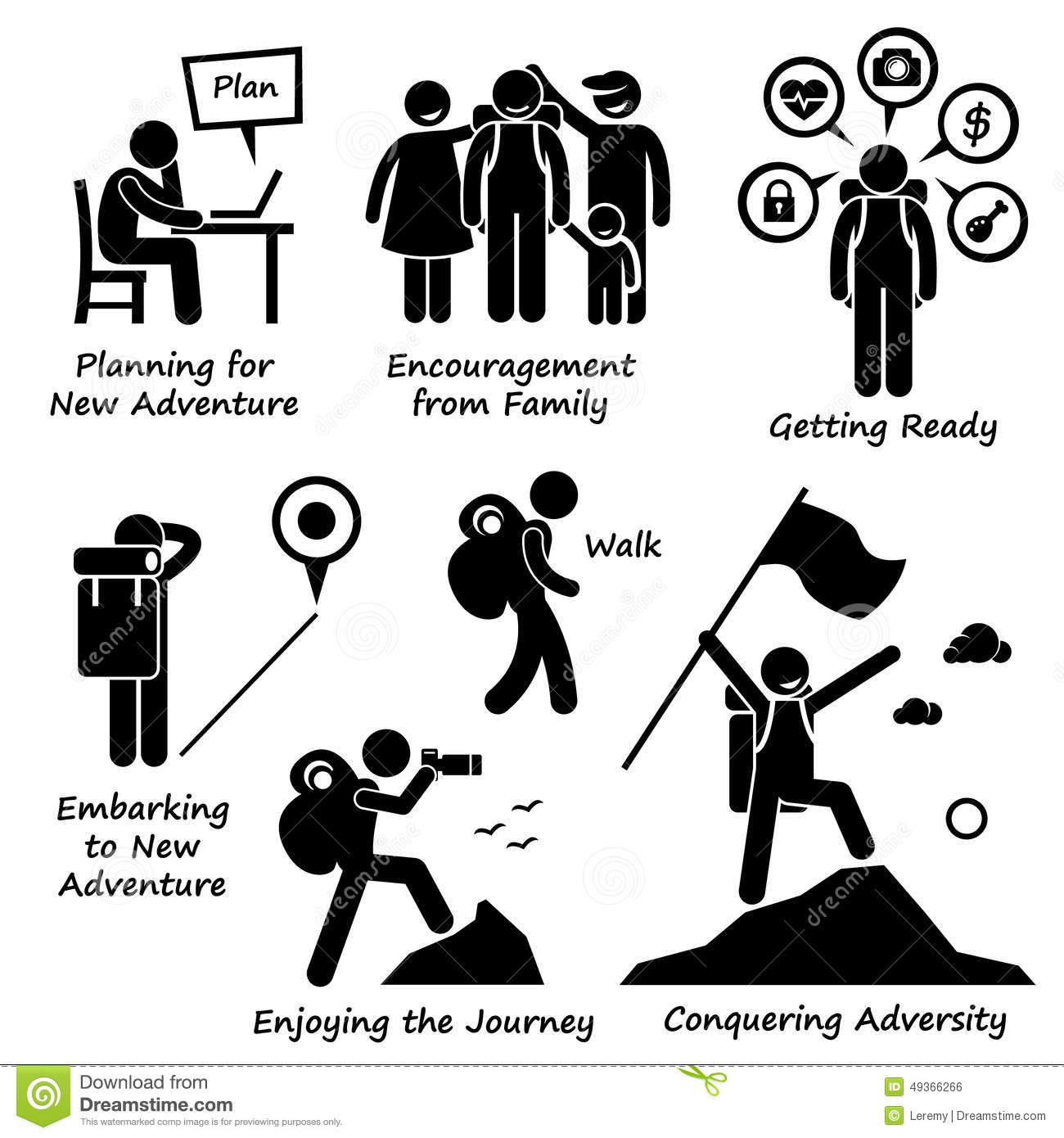 Adventure Clipart New Conquering Adversity Cliparts Set Human.