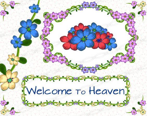 Instant download png frame clip art digi floral green corner love.