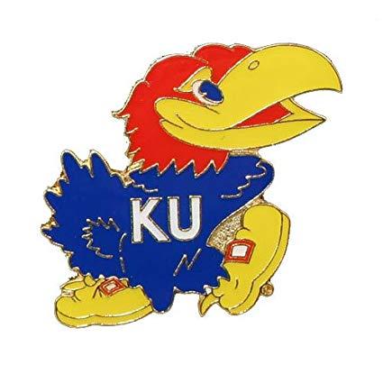 NCAA Kansas Jayhawks Team Logo Pin.