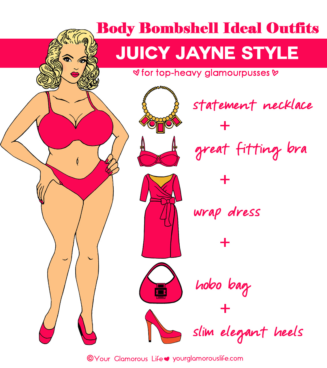 An ideal outfit for a Juicy Jayne body type. Featuring Jayne.