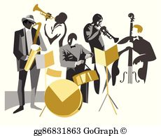 Jazz Band Clip Art.