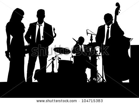 jazz band clipart free silhouette #7