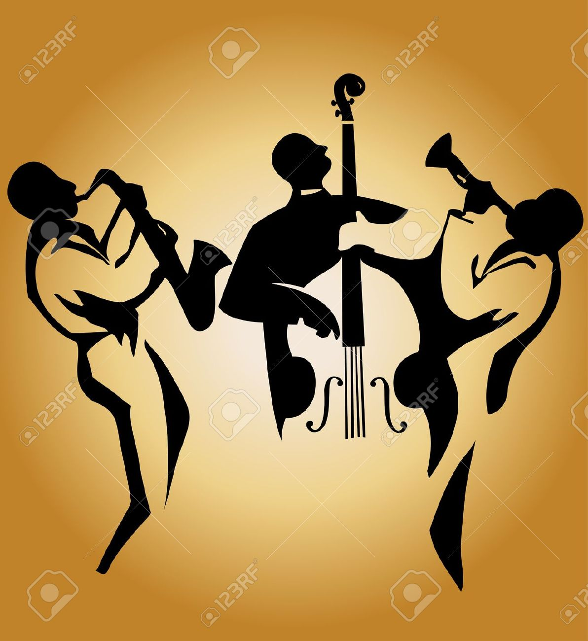 Jazz Band Clipart Free Silhouette Clipground