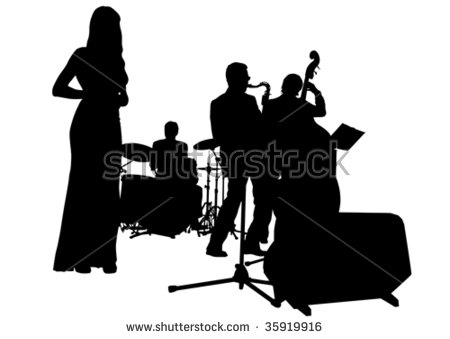Jazz Silhouette Stock Images, Royalty.