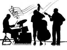 Jazz Silhouette Clip Art.
