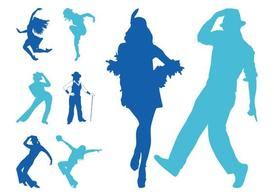 Free Jazz Dancers Silhouettes Clipart and Vector Graphics.