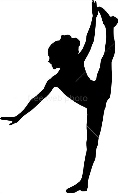 Dancing silhouette child :: Photo 3786 :: Download from FreeWebPhoto.