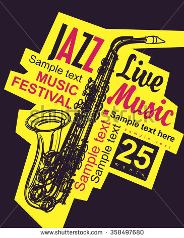 Jazz Poster Stock Photos, Royalty.