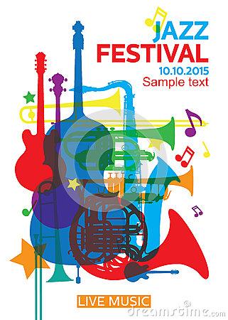 Jazz Festival Saxophone/ai Stock Photo.