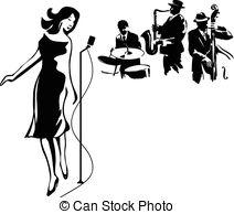 Vocalist Vector Clipart Royalty Free. 446 Vocalist clip art vector.