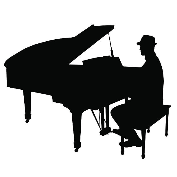 Piano Player Clip Art, Vector Images & Illustrations.