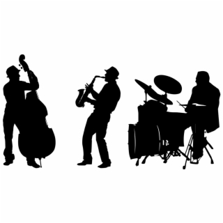 Jazz Band Silhouette Png.