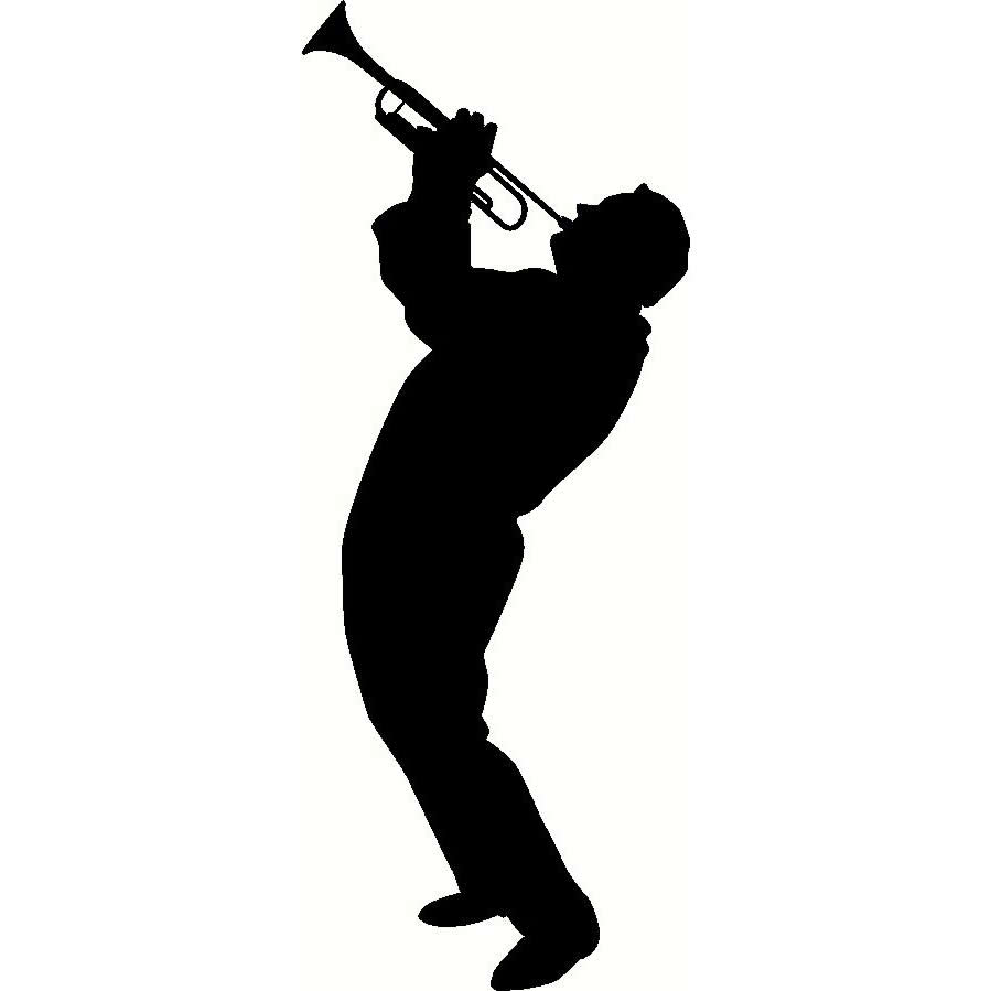Jazz Player Silhouette.