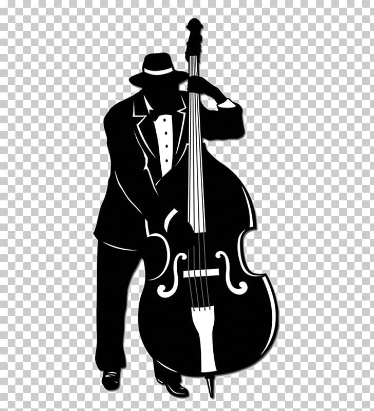 Jazz trio Jazz band Music Double bass, Silhouette PNG.