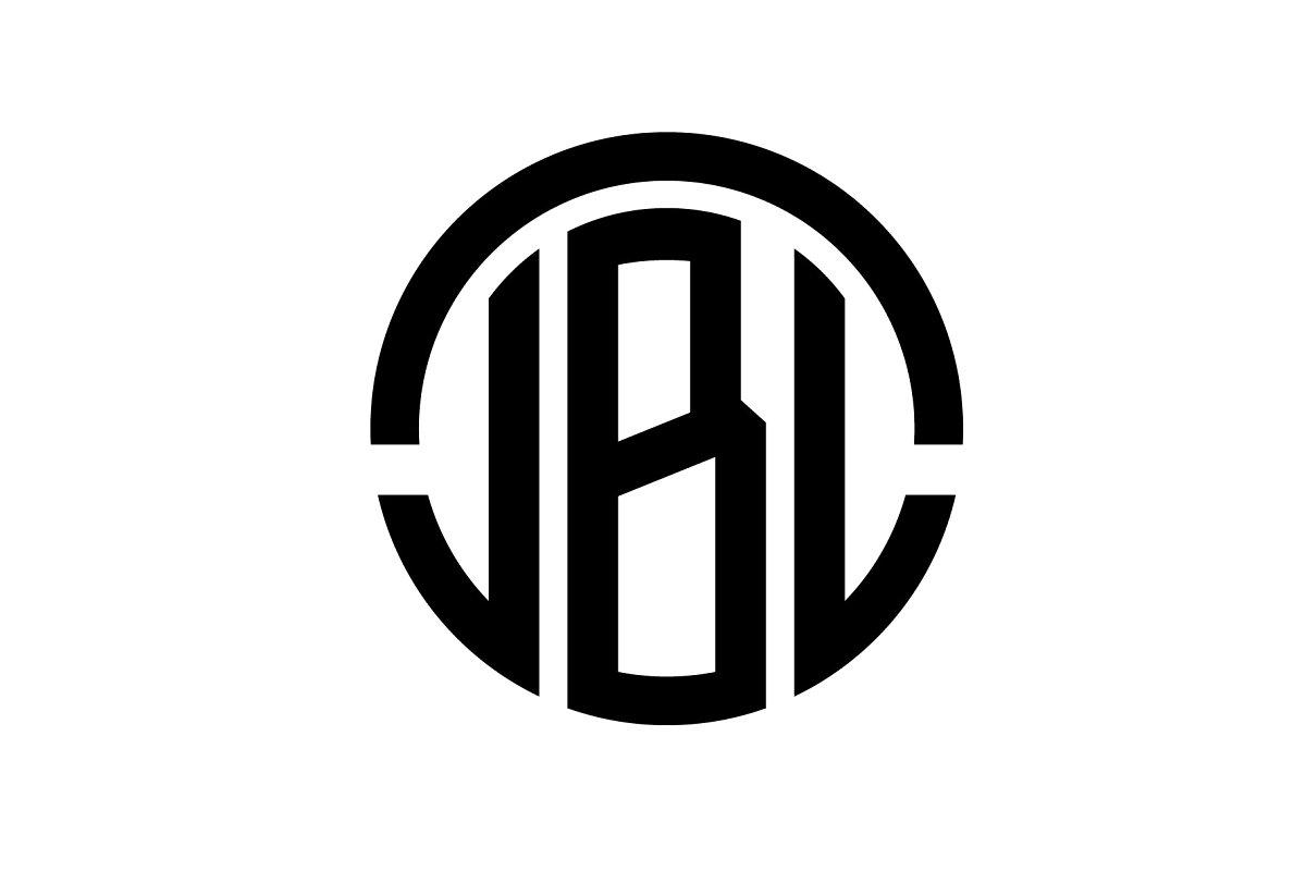 Creative JBL Letter Logo Design.