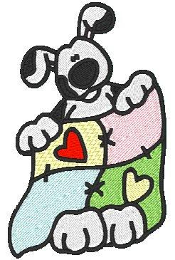 Sewing Dalmatian Dogs.