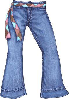 Denim jean clipart.