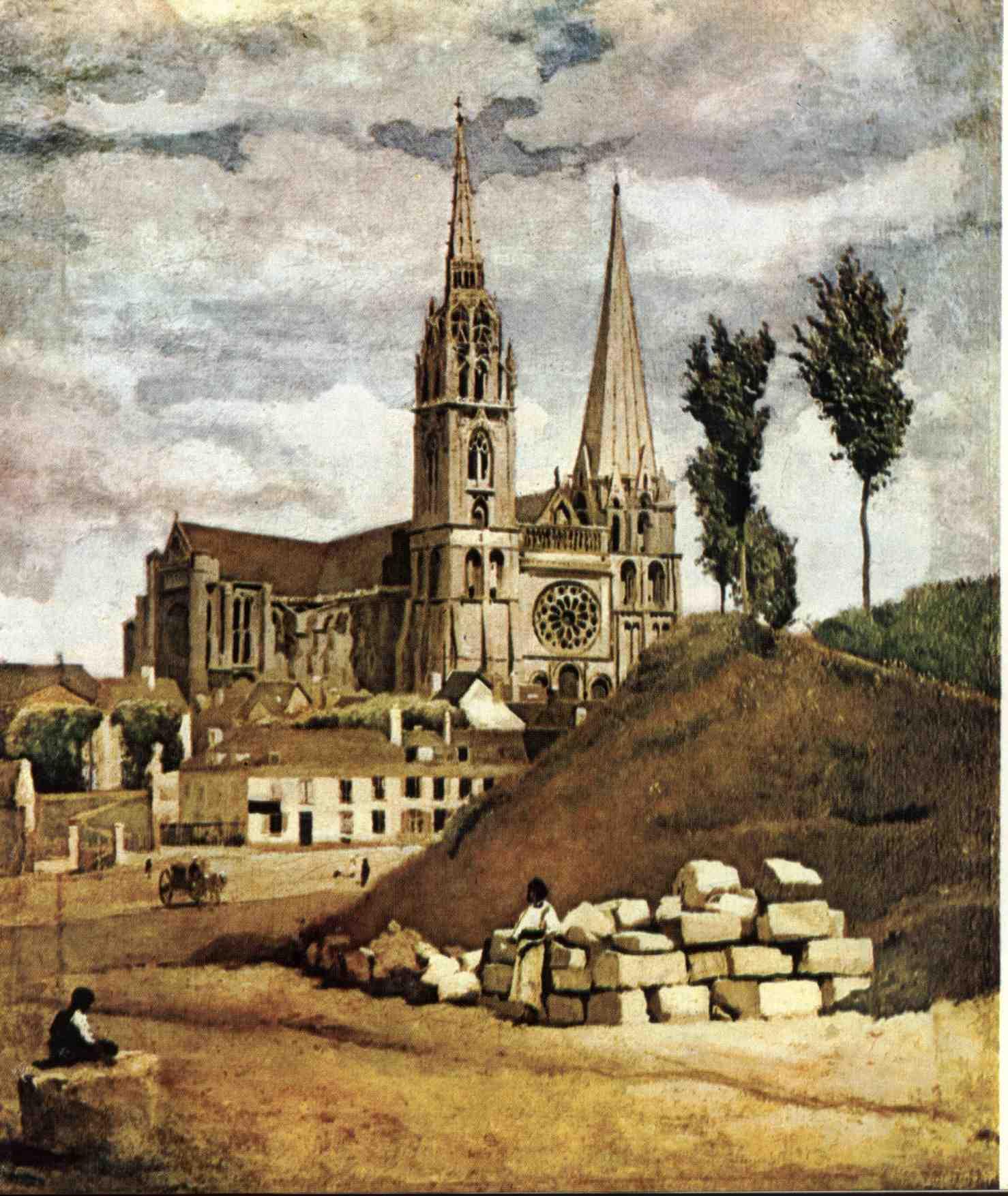 Katedrála v Chartres, Camille Corot.