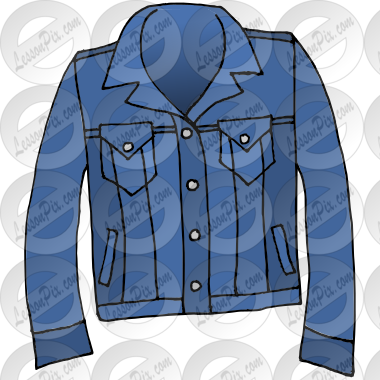 Jean Jacket Picture for Classroom / Therapy Use.