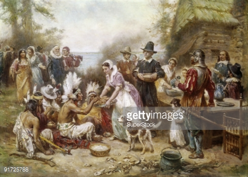The First Thanksgiving By Jean Leon Gerome Ferris Fine art.