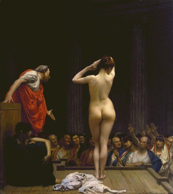 The roman slave market.