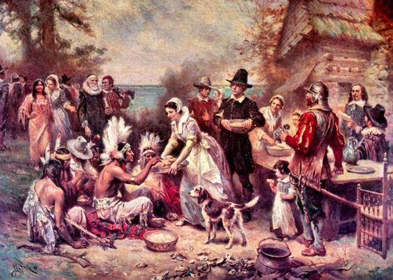 Jean Leon Gerome Ferris: The First Thanksgiving.