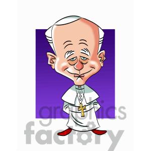 Pope john paul clipart.