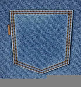 Jeans Pocket Clipart.