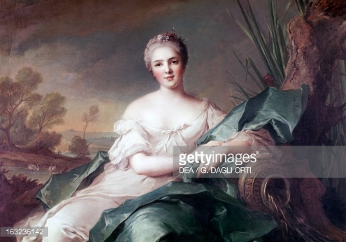 Portrait Of Princess Victoire Of France By Jeanmarc Nattier Oil On.