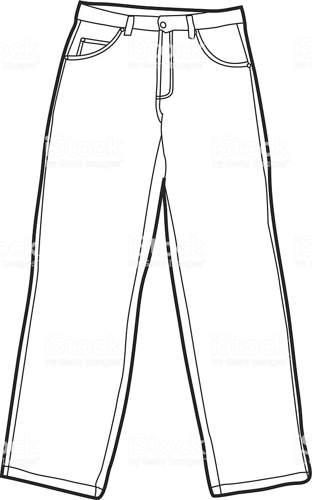 Jeans clipart black and white 6 » Clipart Station.