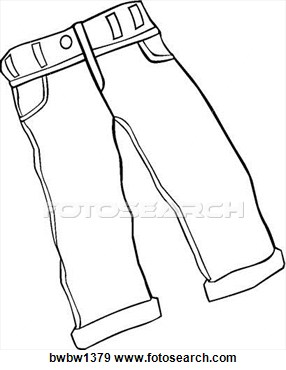 Jeans Clip Art Black And White #YzEU4C Clipart Kid.