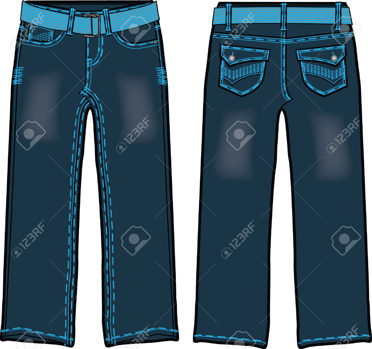 Denim jeans clipart.