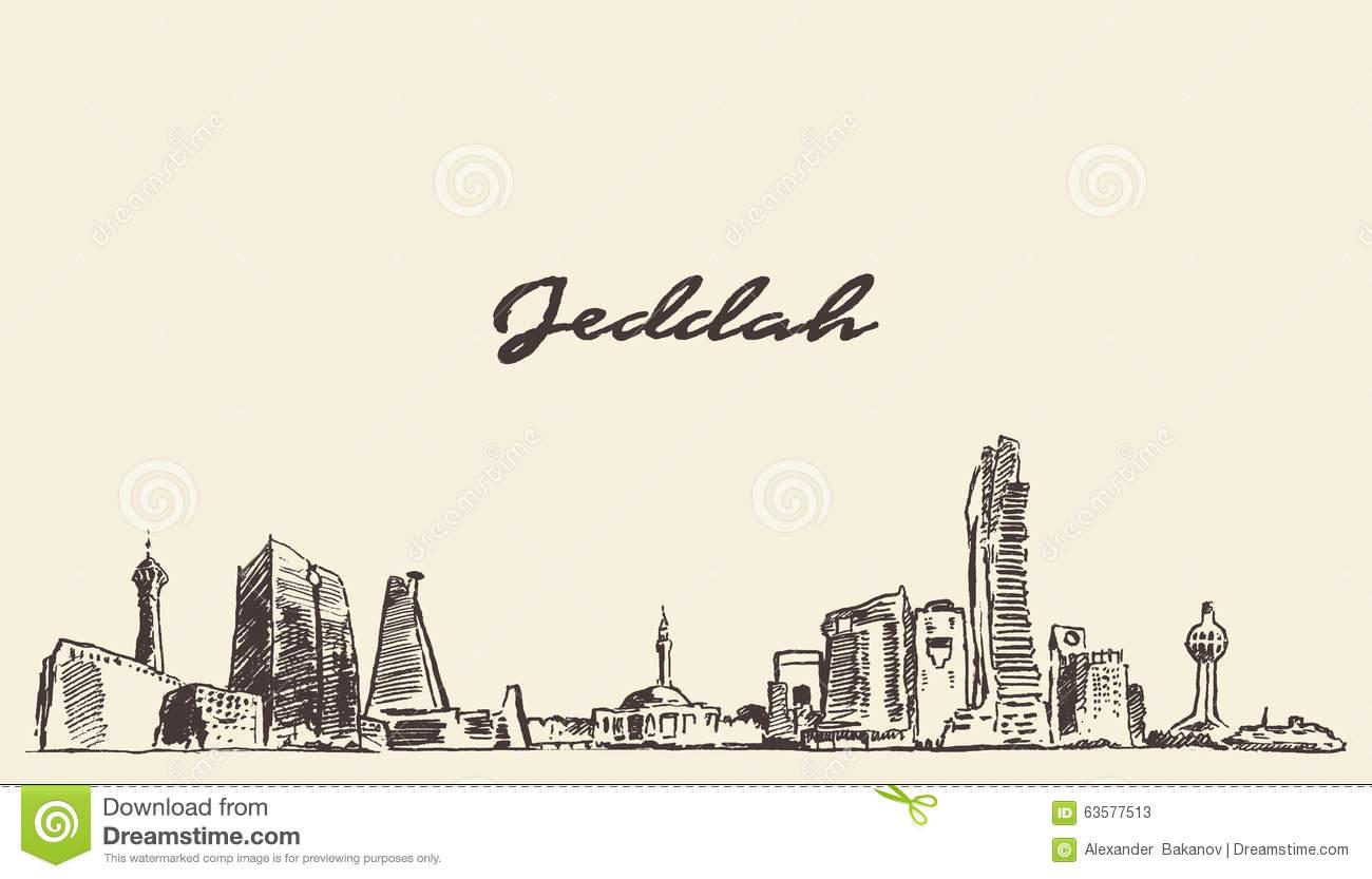 Jeddah Stock Illustrations.