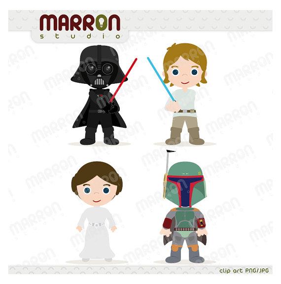 Star Wars Inspired set Kids, Darth Vader, Luke Skywalker, Princess.