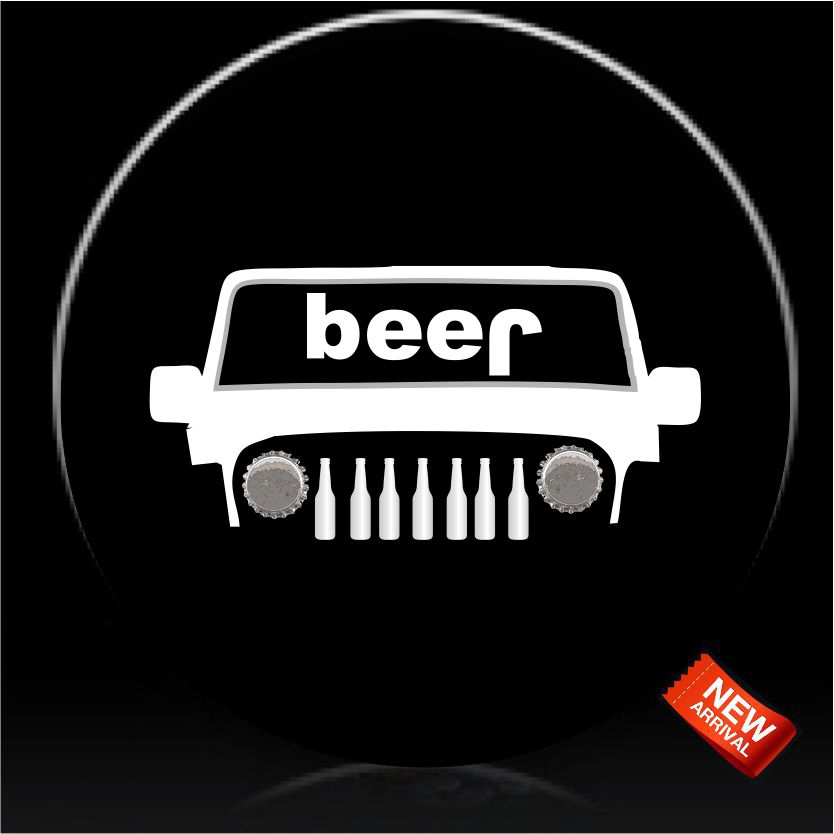Beer Bottle Spare Tire Cover.