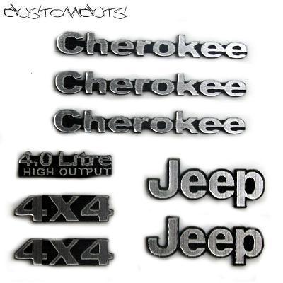 Jeep Cherokee XJ Emblems.