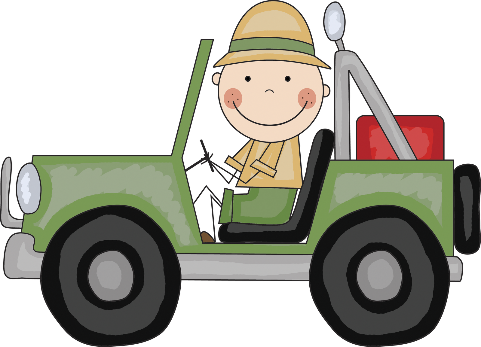 Cartoon Jeep Clipart.