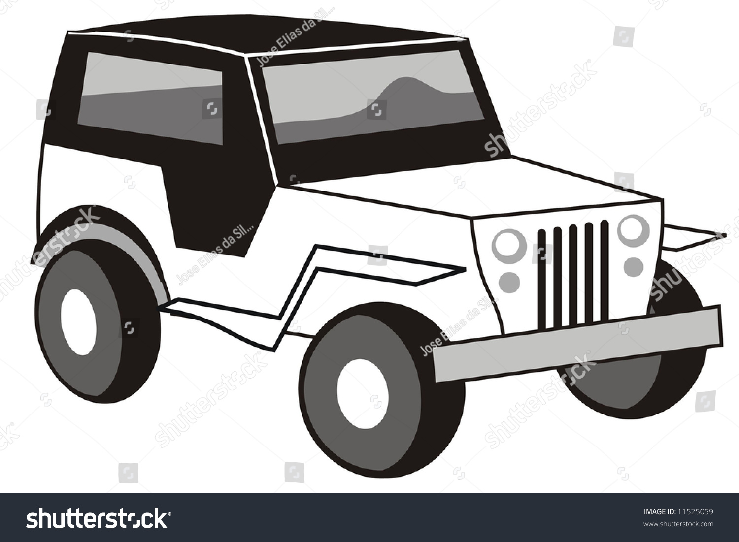 Jeep Clipart Black And White Www.galleryhip.com The.