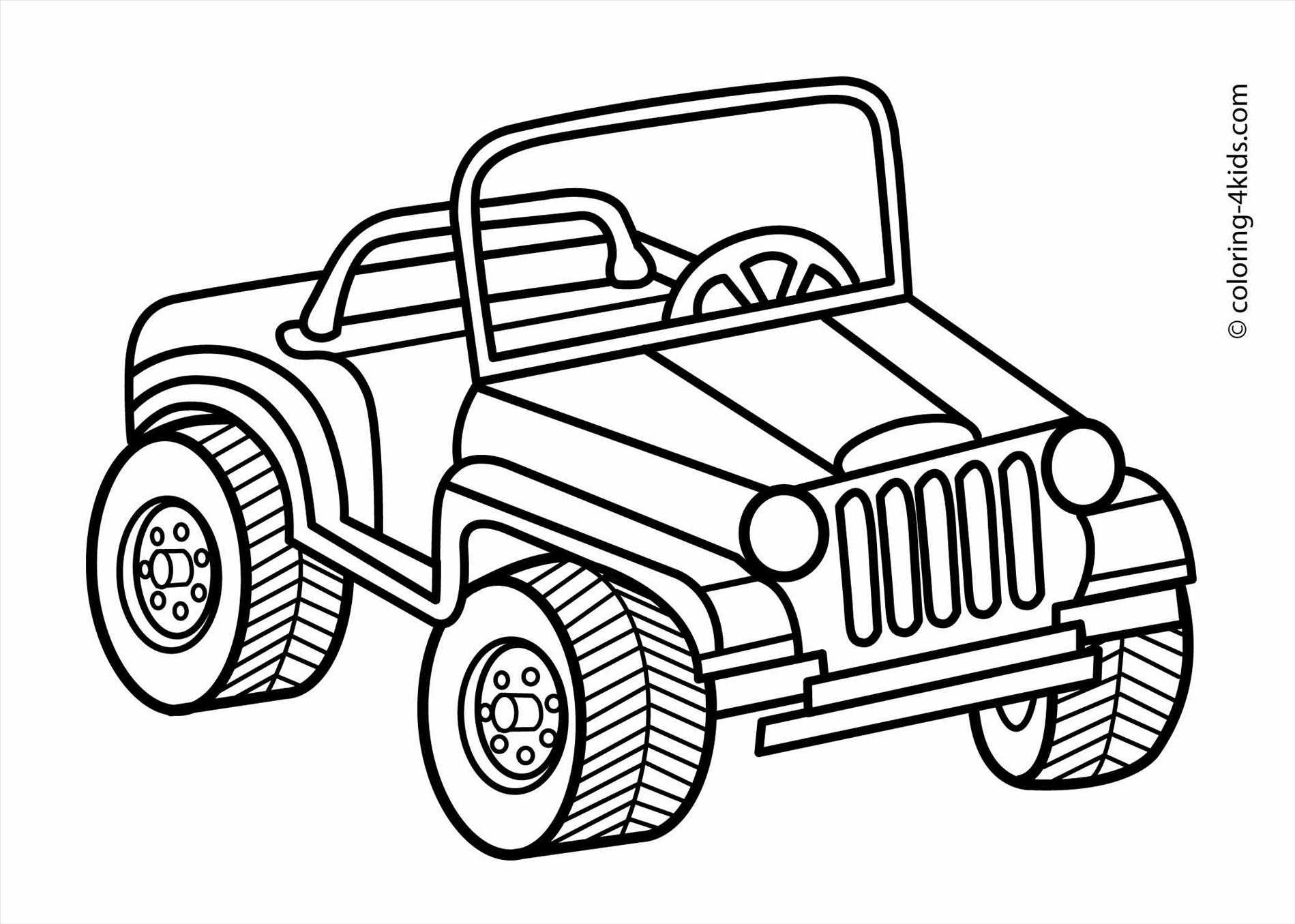Jeep black and white clipart 3 » Clipart Station.