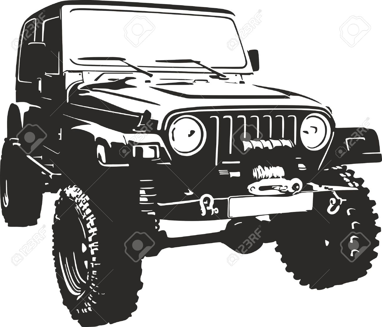 Offroad vehicle in black color.