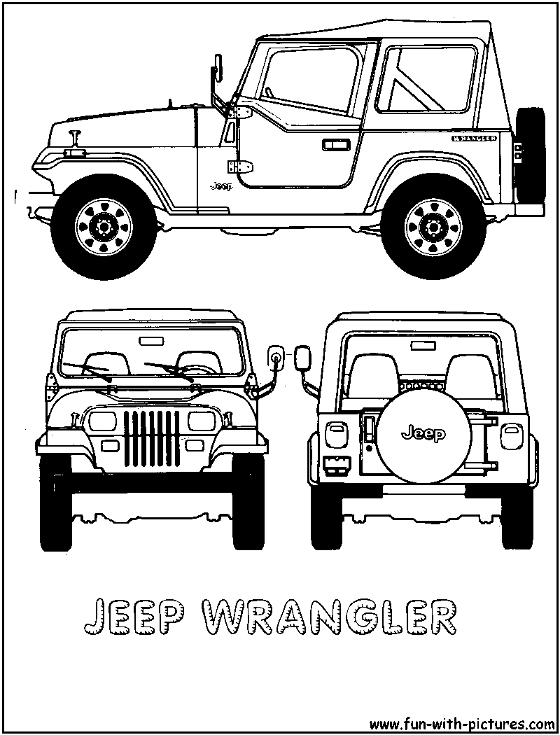 Cartoon Jeep Clip Art.