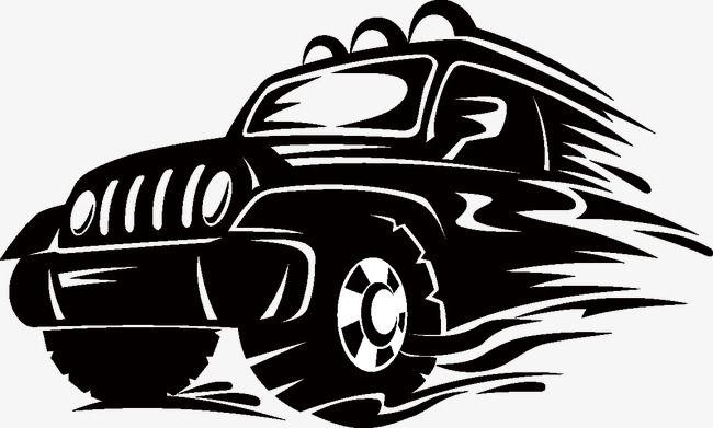 Creative Suv Advertising Illustrator Vector Material, Jeep.